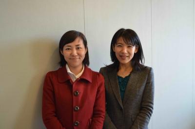 藤田桂子さん(右)と同じくCSR室の三觜英子さん(左)。いつも大変お世話になっております!