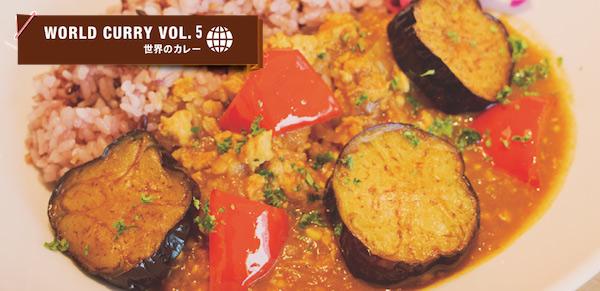 鶏挽肉と揚げナスのインド風カレー